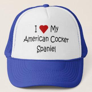 I Love My American Cocker Spaniel Dog Lover Gifts Trucker Hat