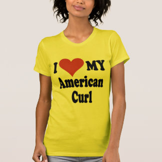 I Love My American Curl Cat Gifts and Apparel T-Shirt