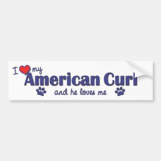 I Love My American Curl (Male Cat) Bumper Sticker