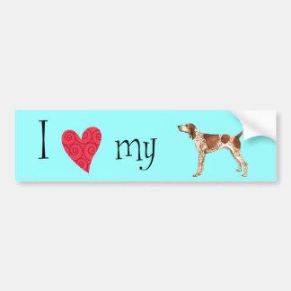 I Love my American English Coonhound Bumper Sticker