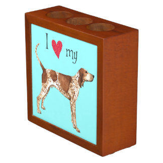 I Love my American English Coonhound Desk Organizer