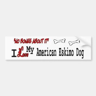 I love my American Eskimo Dog Bumper Sticker