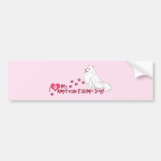I Love My American Eskimo Dog! Bumper Sticker