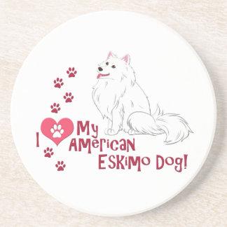 I Love My American Eskimo Dog! Coaster