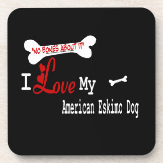 I Love My American Eskimo Dog Drink Coaster