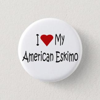 I Love My American Eskimo Dog Lover Gifts Pinback Button