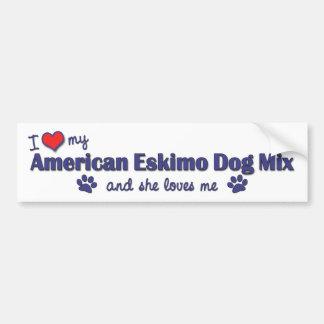 I Love My American Eskimo Dog Mix (Female Dog) Bumper Sticker