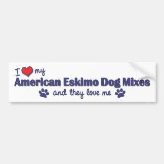 I Love My American Eskimo Dog Mixes (Multi Dogs) Bumper Sticker