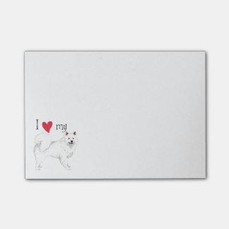 I Love my American Eskimo Dog Post-it® Notes