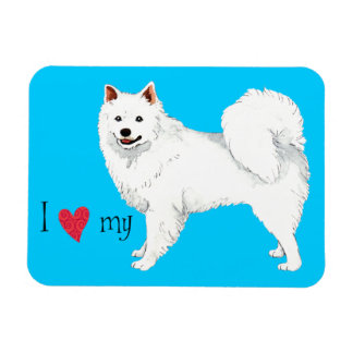 I Love my American Eskimo Dog Rectangular Photo Magnet