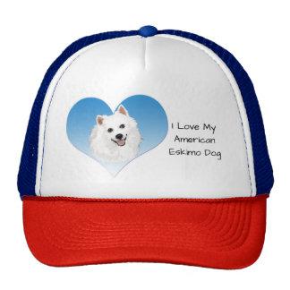 I Love My American Eskimo Dog Trucker Hat