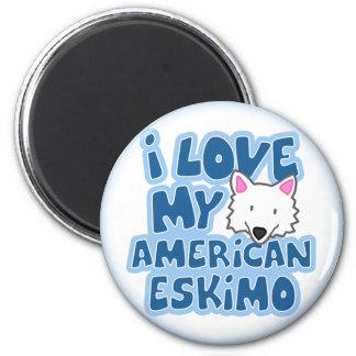 I Love My American Eskimo Magnet