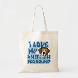 I Love My American Foxhound Bag