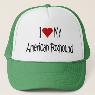 I Love My American Foxhound Dog Lover Gifts Trucker Hat