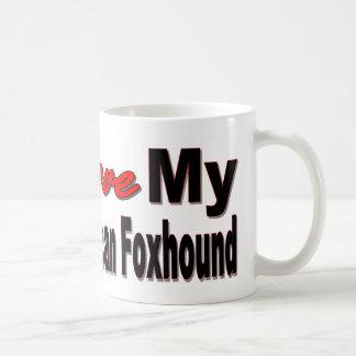 I Love My American Foxhound Dog Merchandise Coffee Mugs