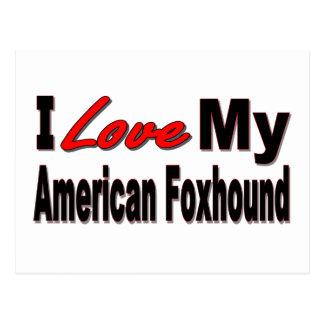 I Love My American Foxhound Dog Merchandise Postcard