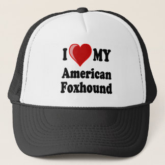 I Love My American Foxhound Dog Trucker Hat