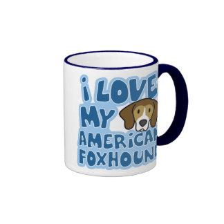 I Love My American Foxhound Mug