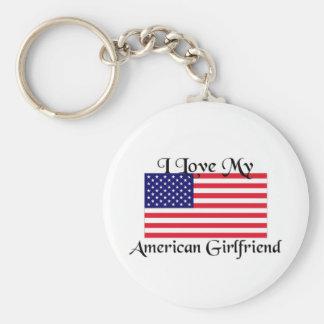I love my American Girlfriend Keychain