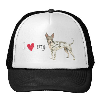 I Love my American Hairless Terrier Trucker Hat