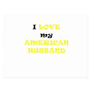 I Love my American Husband Postcard
