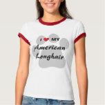I Love My American Longhair Pawprint T-Shirt