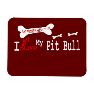 I Love My American Pit Bull Terrier Dog Flexible Magnets