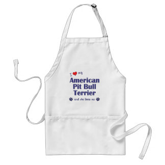 I Love My American Pit Bull Terrier (Female Dog) Adult Apron