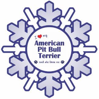 I Love My American Pit Bull Terrier (Female Dog) Statuette