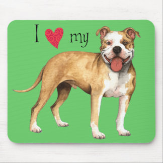 I Love my American Pit Bull Terrier Mouse Pad
