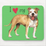 I Love my American Pit Bull Terrier Mousepad