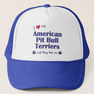 I Love My American Pit Bull Terriers (Multi Dogs) Trucker Hat