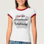 I Love My American Polydactyl Pawprint T-Shirt