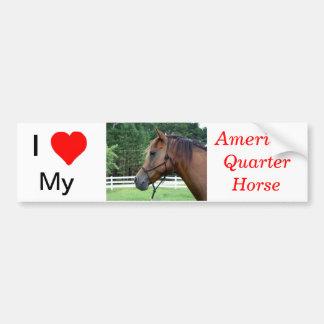 I Love My American Quarter Horse Bumper Sticker Car Bumper Sticker