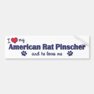 I Love My American Rat Pinscher (Male Dog) Bumper Sticker