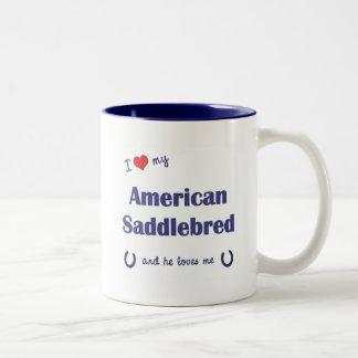 I Love My American Saddlebred (Male Horse) Two-Tone Coffee Mug