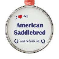I Love My American Saddlebred (Male Horse) Christmas Ornaments