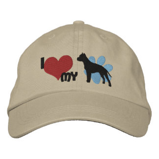 I Love my American Staffordshire Terrier Baseball Cap