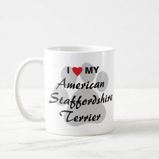 I Love My American Staffordshire Terrier Coffee Mug