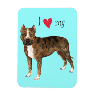 I Love my American Staffordshire Terrier Magnet