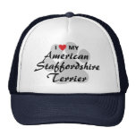 I Love My American Staffordshire Terrier Mesh Hats