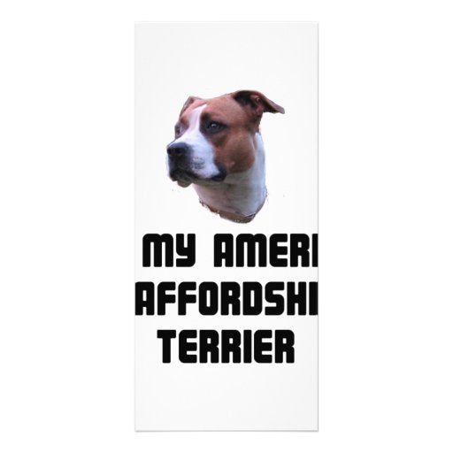 I Love My American Staffordshire Terrier Full Color Rack Card