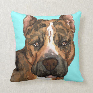I Love my American Staffordshire Terrier Throw Pillow