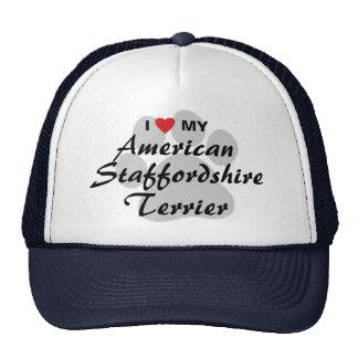 I Love My American Staffordshire Terrier Trucker Hat