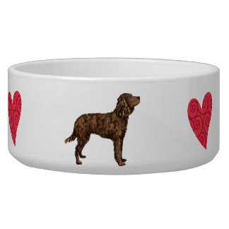 I Love my American Water Spaniel Bowl