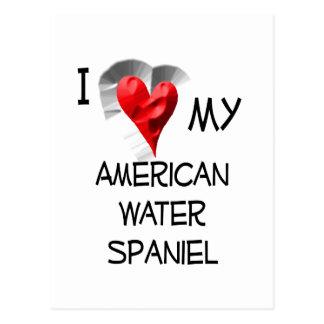 I Love My American Water Spaniel Postcard