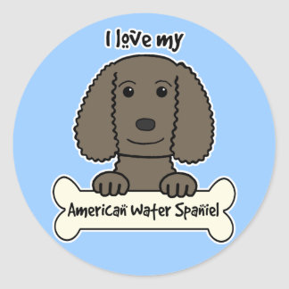 I Love My American Water Spaniel Stickers