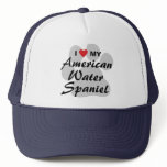 I Love My American Water Spaniel Trucker Hat