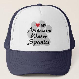 I Love My American Water Spaniel Trucker Hat