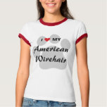 I Love My American Wirehair Pawprint T-Shirt